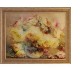 Картина с кристаллами Сваровски Натюрморт с пионом