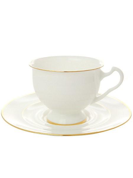 Чайная чашка с блюдцем Золотая лента