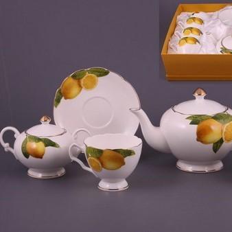 Чайный набор на 6 персон Лимон