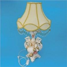 Настольная керамическая лампа с абажуром