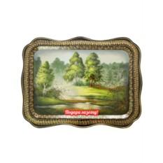 Поднос с художественной росписью Лес, прямоугольный
