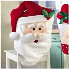 Новогодний чехол на стул «Дед Мороз»