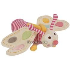 Мягконабивная развивающая игрушка Бабочка-гусеница