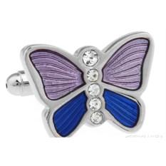 Запонки «Бабочка» в именной коробке с гравировкой