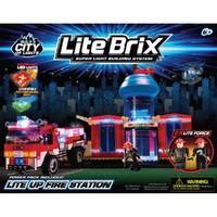 Конструктор Lite Brix Пожарная станция с машиной