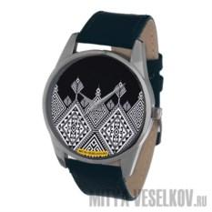 Часы Mitya Veselkov Северный узор (цвет: темно-синий)