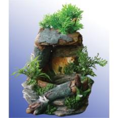 Декоративный фонтан Тигр на скале