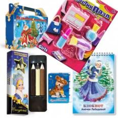 Новогодний набор с карандашами и ластиками «Салон красоты»
