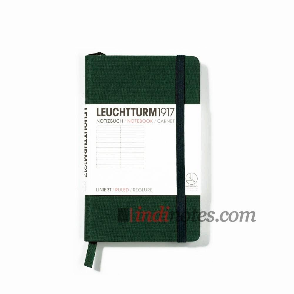 Записная книжка Pocket Linen Notebook Green