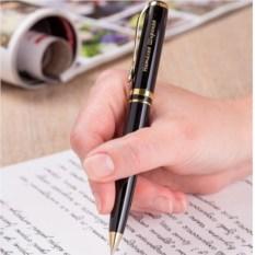 Шариковая ручка Эврика с золотистыми элементами и именной гравировкой