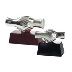 Малая настольная скульптура «Рукопожатие» с посеребрением