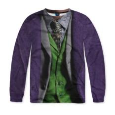 Мужской свитшот с полной запечаткой Джокер