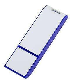 USB флеш карта Blade, синяя с белым, 8 Гб