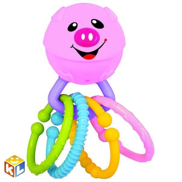 Развивающая игрушка-погремушка Веселая хрюшка, Kiddieland