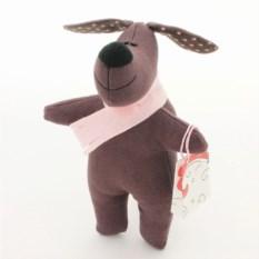 Игрушка ручной работы Собака Вишенка