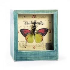 Настольные часы Butterfly yellow