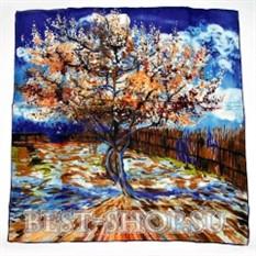 Платок Персиковое дерево в цвету