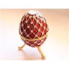 Шкатулка со стразами Плетеное яйцо