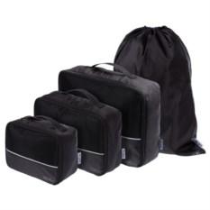 Черный дорожный набор сумок NoJumble 4 в 1