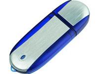 Флеш-карта USB 2.0 4 Gb, синие вставки