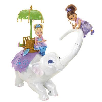 Барби «Принцессы и слониха Тика»