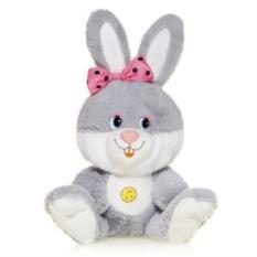 Мягкая игрушка Зайка Милашка с розовым бантиком