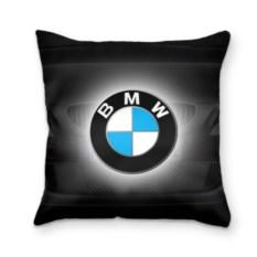 Подушка 3D BMW черного цвета