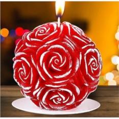 Новогодняя свеча «Прекрасные розы»