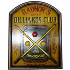 Панно Бильярдный клуб Radnors