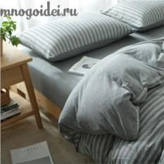 Комплект трикотажного постельного белья Теплый серый