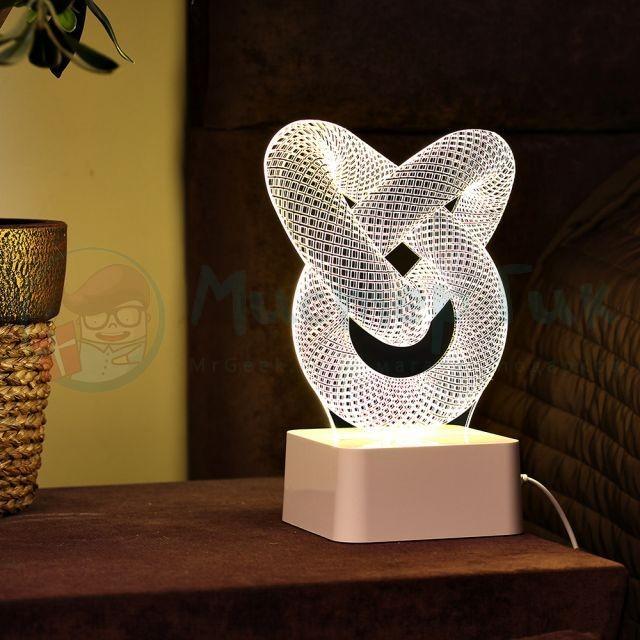 3D Лампа Тройная Спираль