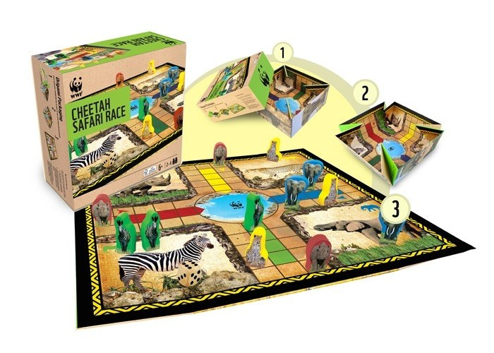 Настольная игра WWF Сафари Гонки