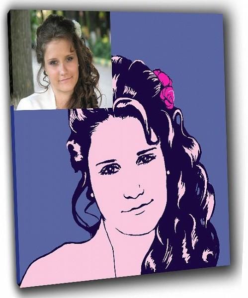 Поп-арт портрет для девушки