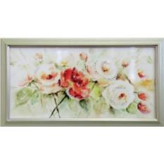 Картина с кристаллами Swarowski Шиповника цвет
