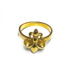 Позолоченное кольцо Королевская лилия