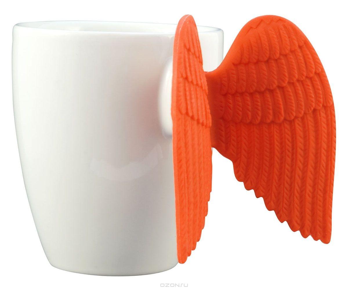 Кружка Pylones Angel Time, цвет: белый и оранжевый