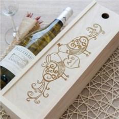 Коробка для вина Новобрачные
