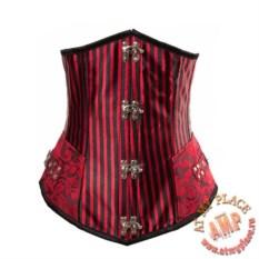 Черно-красный корсет под грудь