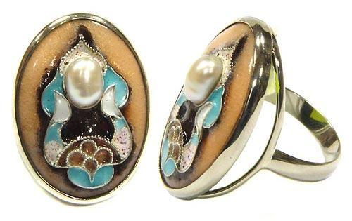 Кольцо Модерн с жемчугом - авторские подарки