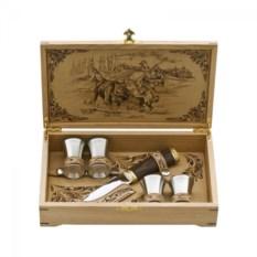 Подарочный набор в шкатулке Охота на зубра