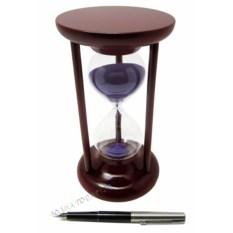 Часы песочные 15 минут, фиолетовый песок