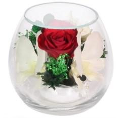 Цветочная композиция (роза и орхидея)