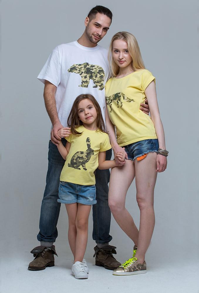 Комплект футболок Military для мамы, папы и дочки