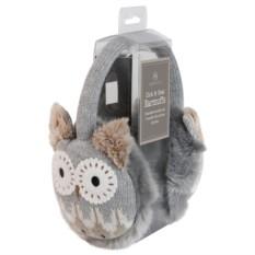 Вязаные коричневые согревающие наушники Aroma Home Owl