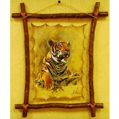 Картина одно из самых оригинальных украшений Вашего интерьера, выполненная на специально обработанной коже, натянутой.