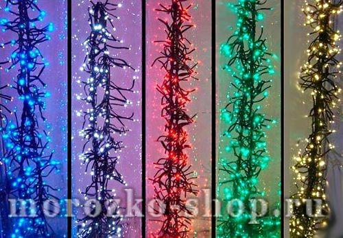 Электрогирлянда Фейерверк, 200 красных минидиодов (LED огней)