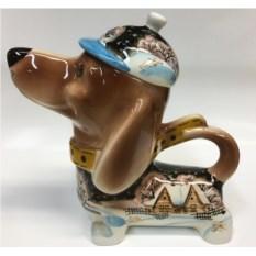 Чайник в форме собаки Зимний вечер