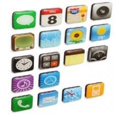 Набор магнитов на холодильник iPhone