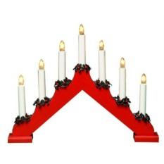 Красный светильник Горка Рождественская на 7 свечей