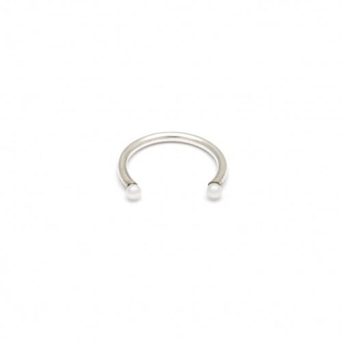 Серебряное кольцо с натуральным жемчугом